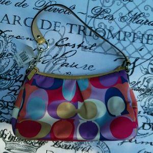 Authentic Coach Small Hangbag Multi-Colored